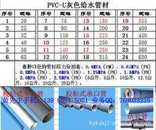 供应PVC U给水管 硬管 355