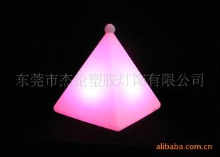 七彩LED太阳能草坪灯 LED发光礼品七彩遥控夜灯