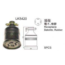 无锡LKEW隆光工业插头插座LK5420 4孔防水橡胶插座  防松橡胶插座