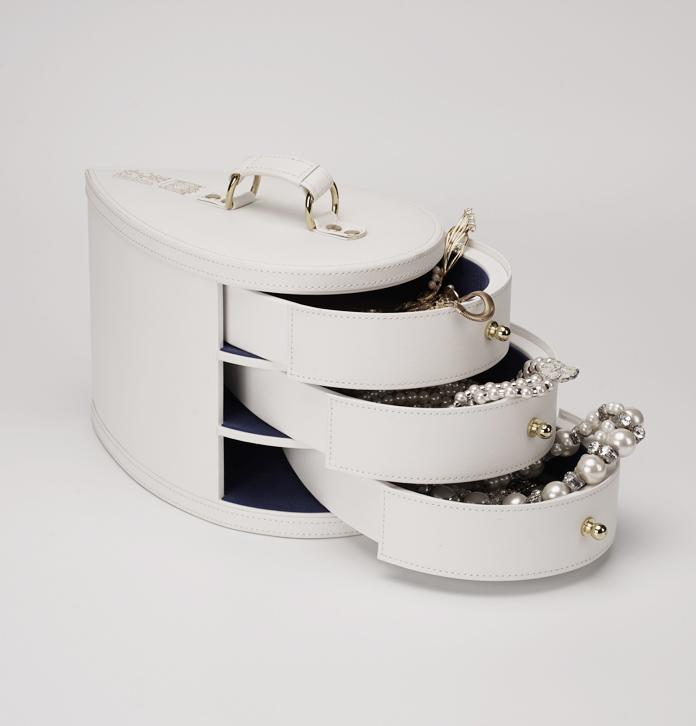 輕奢珠寶首飾收納箱定制 飾品展示收藏箱 項鏈手手表抽屜盒