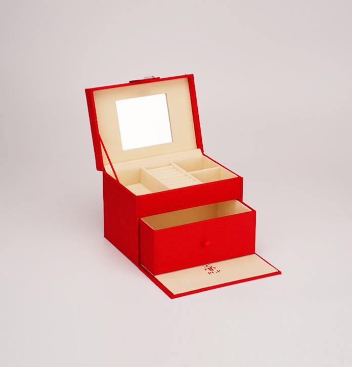 輕奢珠寶盒首飾盒定做 高檔多層飾品收藏盒 家用珠寶收納盒