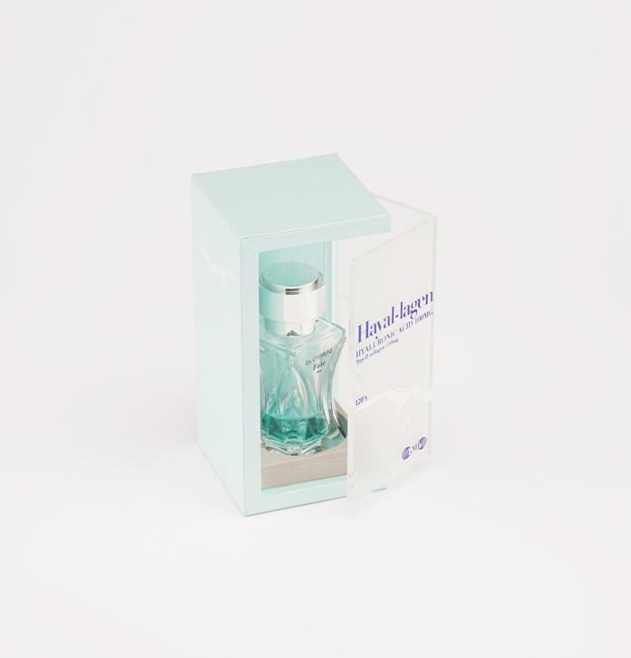繁复时髦香水包装盒定做 轻奢亚克力香水礼盒包装 磨砂通明窗香水木盒
