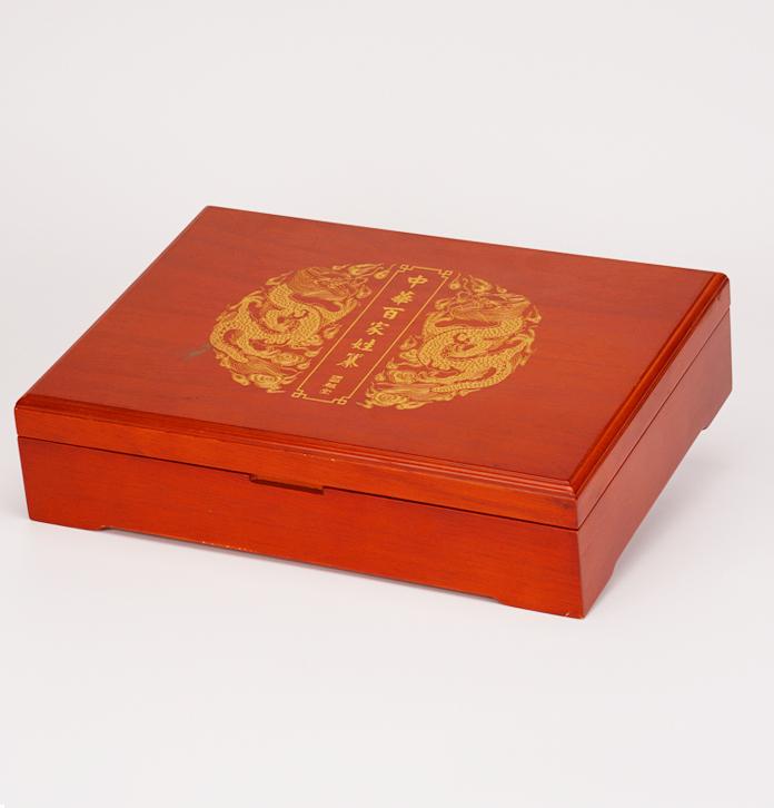实木族谱盒 实木族谱收藏盒 仿古实木族谱珍藏盒定制