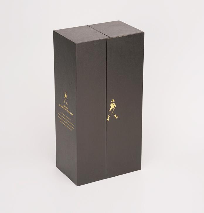 单只装威士忌酒盒定制 内衬高级色丁皮酒盒