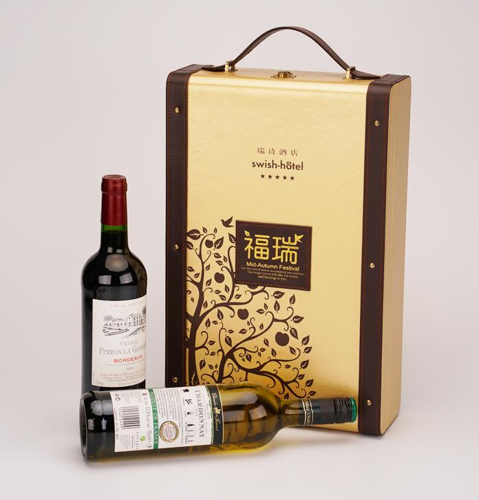 时髦单瓶红酒盒 高级单收红酒包装套装定制 单收葡萄酒礼盒