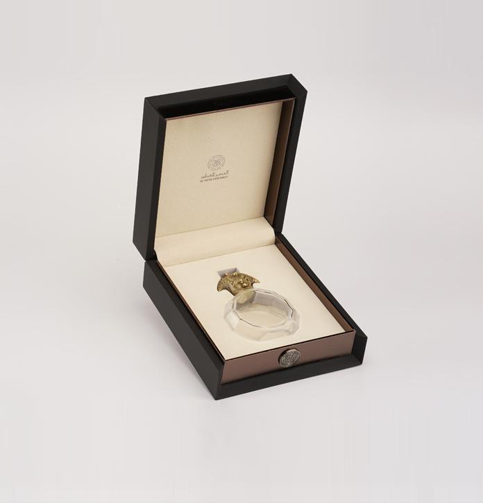 中东作风香水包装盒定做 繁复时髦香水木质礼盒包装 哑光香水木盒