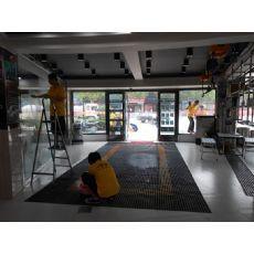 浙江洗车槽盖板,杭州洗车店排水沟网格板,洗车场排水格栅板