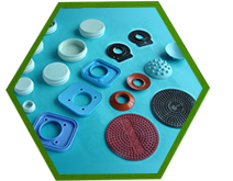 Miscellaneous pieces of silicone