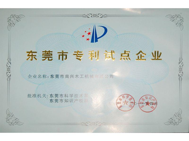 2011年东莞市专利试点企业