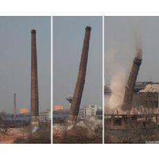 阜新烟筒拆除公司《锅炉烟囱拆除-烟囱定向爆破》