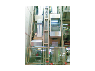 东莞未来家园建材城观光电梯和自动扶梯