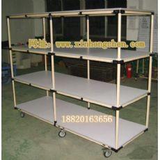 精益管推车|线棒工作台|防火板面推车架