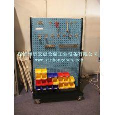 百叶挂板置物架|方孔挂板物料架|零件盒推车