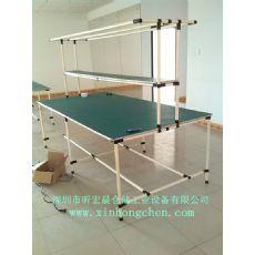 米黄色圆管工作台|钢塑管工作台/实验室工作台