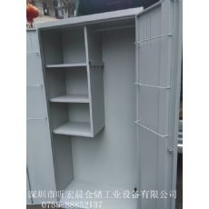 多功能衣柜鞋柜|双开门铁柜现货供应