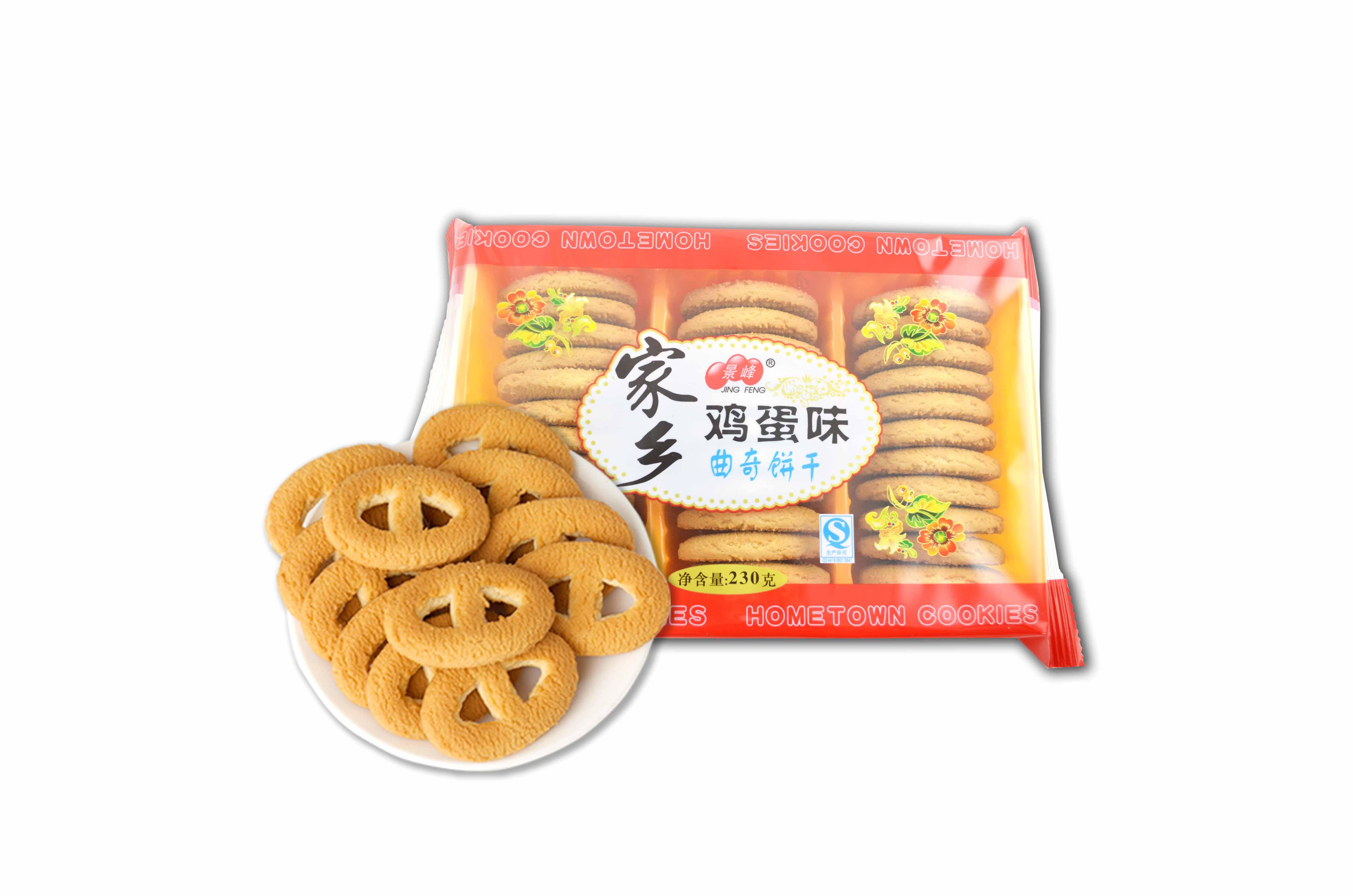鸡蛋味家乡曲奇饼干(230g)