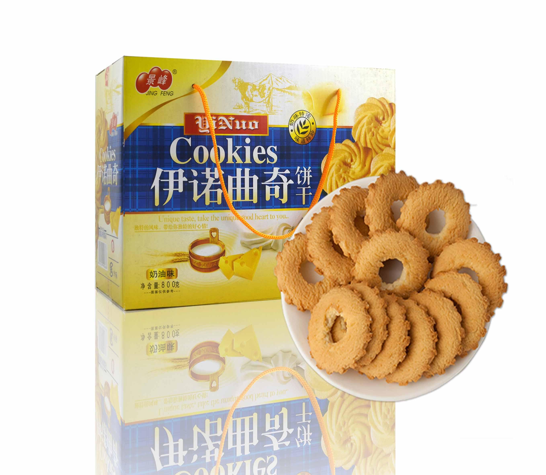 伊诺奶油味曲奇饼干(800g)