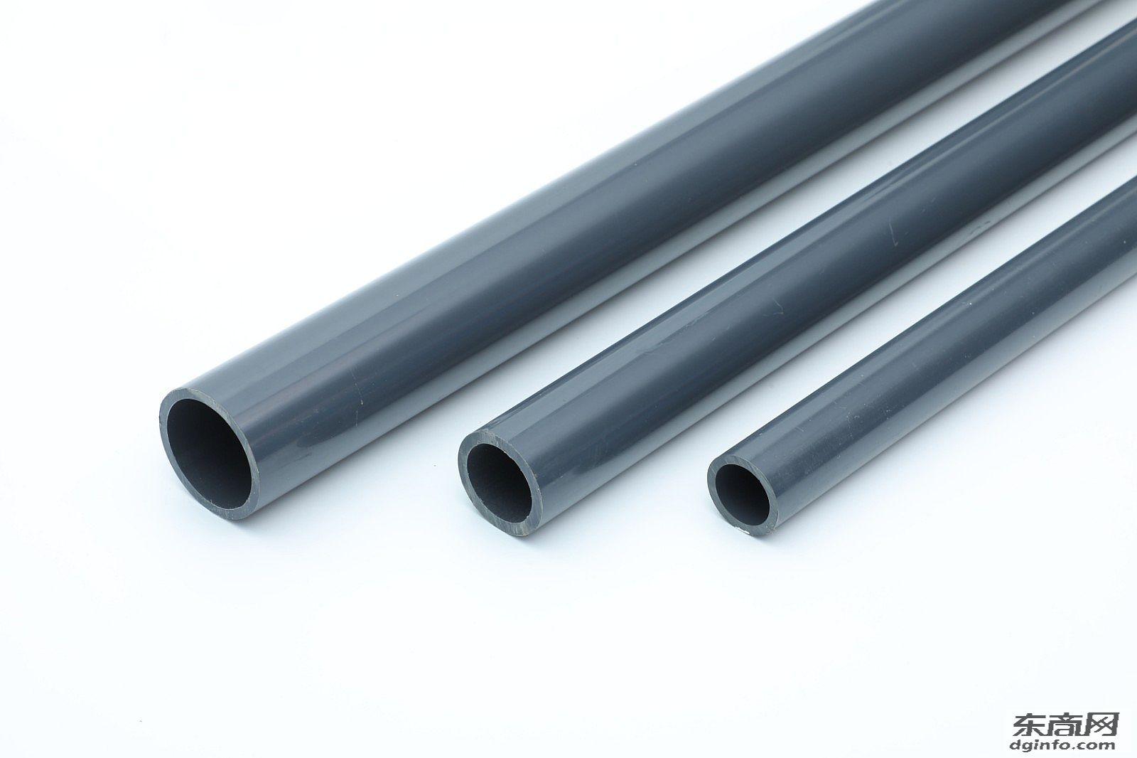 英制管武峰塑料PVCU给水管灰色22mm化工管