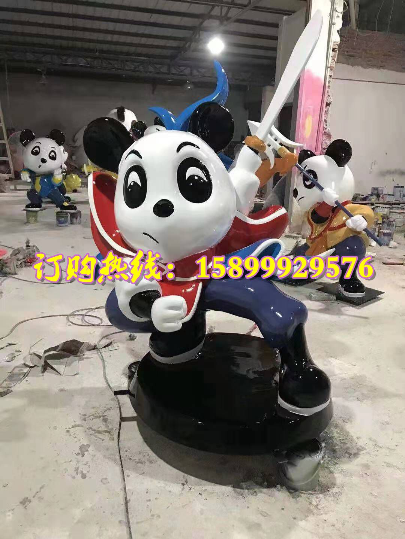 功夫熊貓雕塑