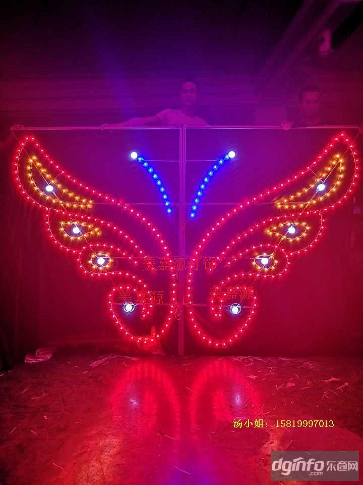 LED造型燈,LED雙向發光造型燈,路燈桿造型蝴蝶燈