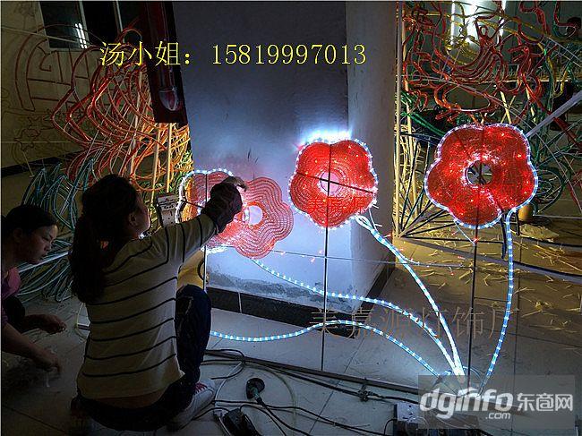 路燈桿造燈型熱銷產品,LED牡丹花造型燈,鄉村街道亮化燈