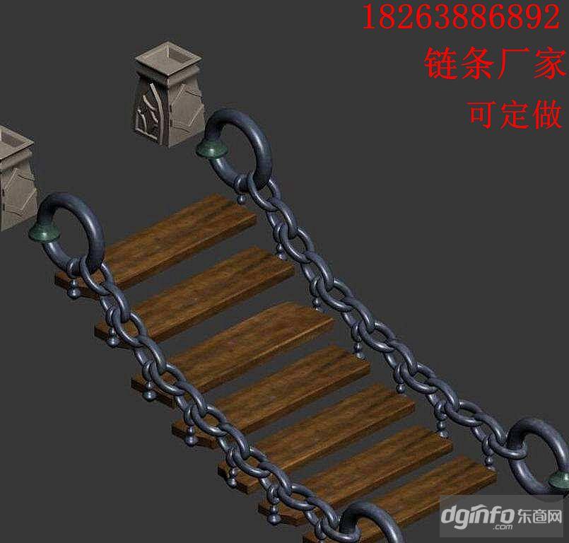 制作網紅橋的鐵鏈廠家 網紅橋用多大的鐵鏈