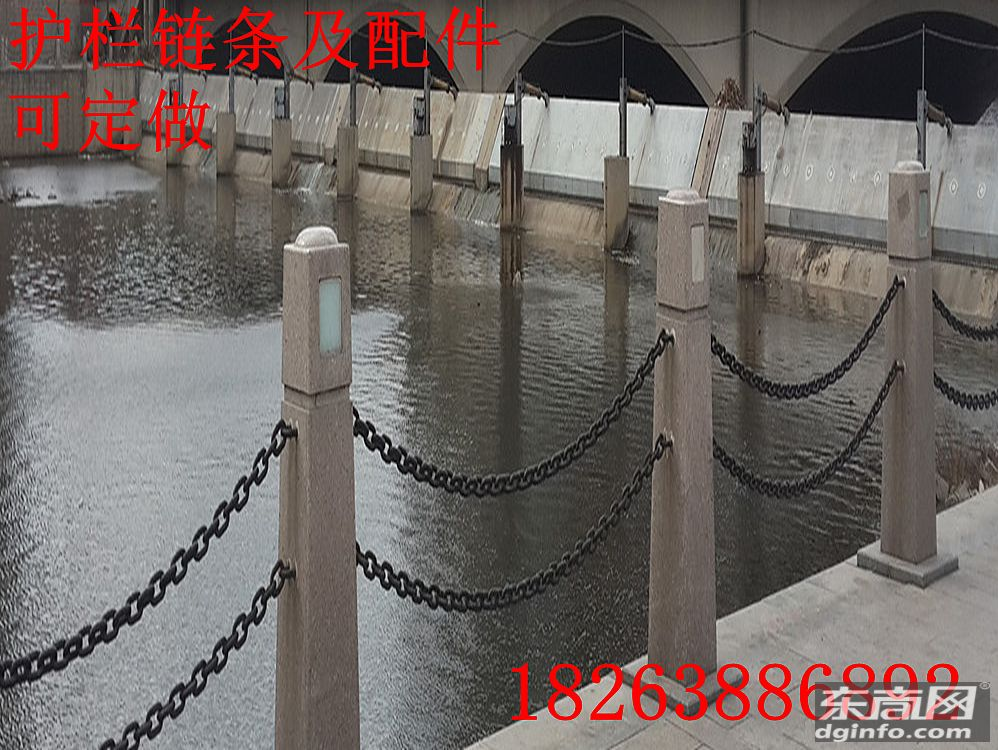 鲁兴圆环铁链厂家 石柱河道景区护栏铁链用什么规格型号的