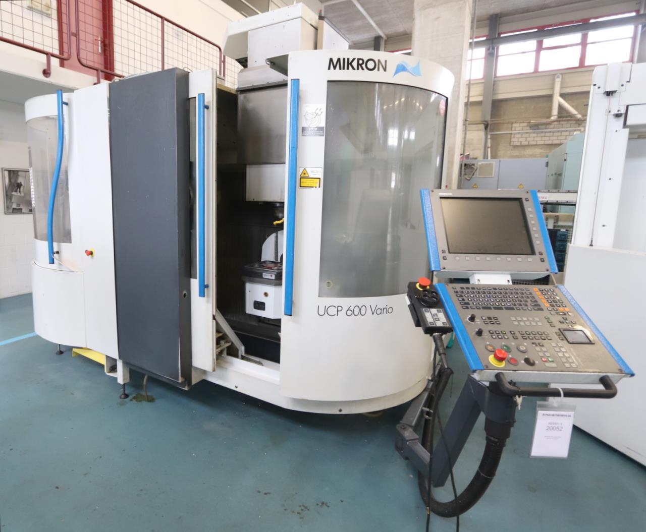 MIKRON UCP 600 VARIO二手立式加工中心进口中检手续