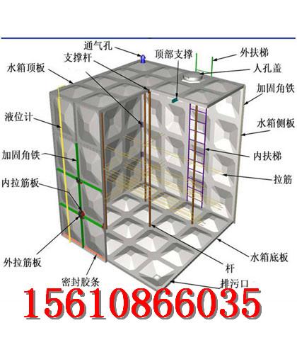 玻璃鋼水箱廠商組合式玻璃鋼水箱廠家供應|