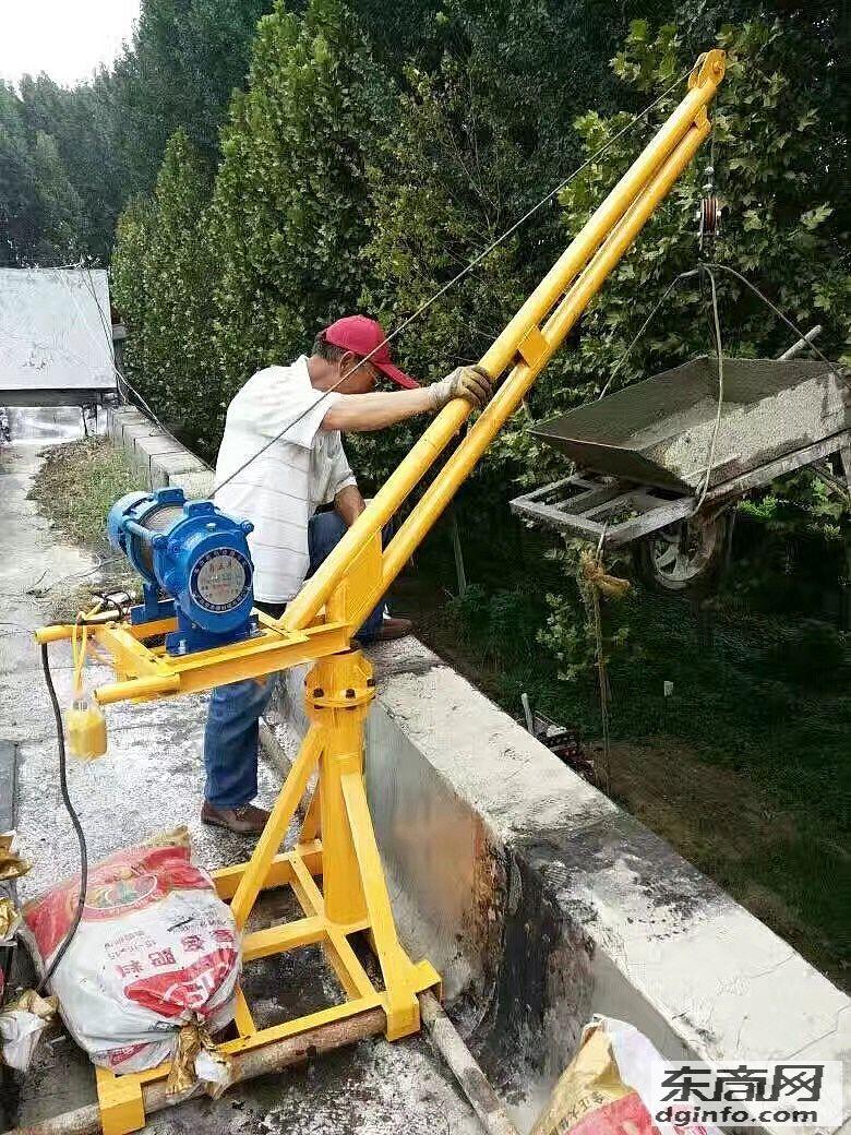 房頂旋轉吊機型號房頂吊料好幫手