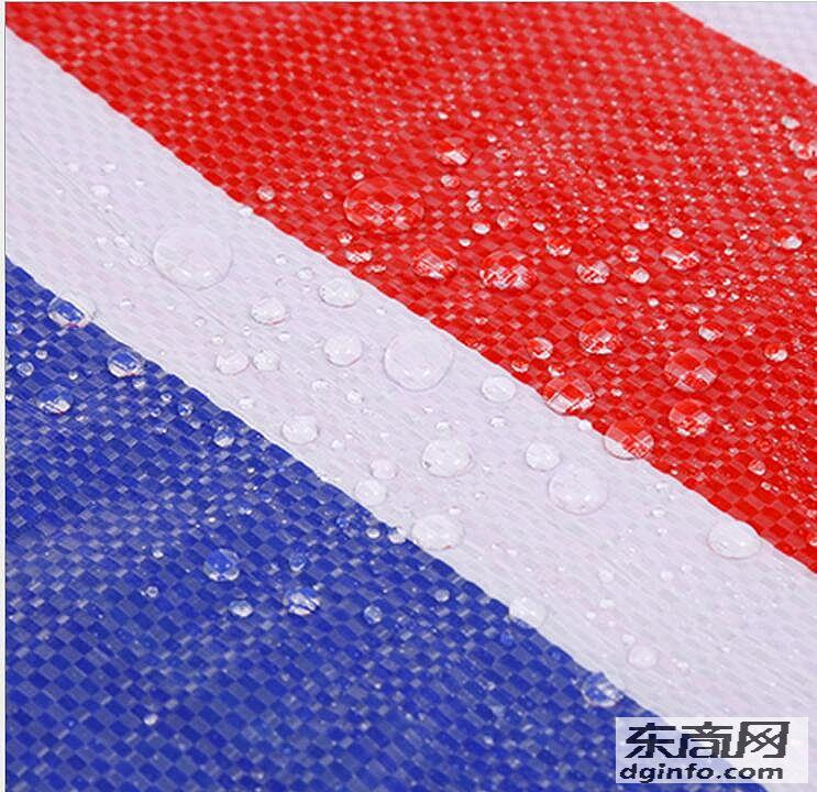 延新品牌防水篷布塑編篷布彩條布加工