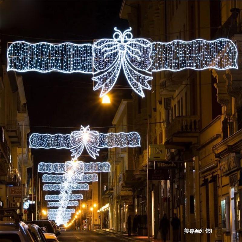 led燈串綁鐵架橫掛彩燈,過街燈,街道燈桿掛件,仿真圖案造型燈,霓虹燈圖案燈