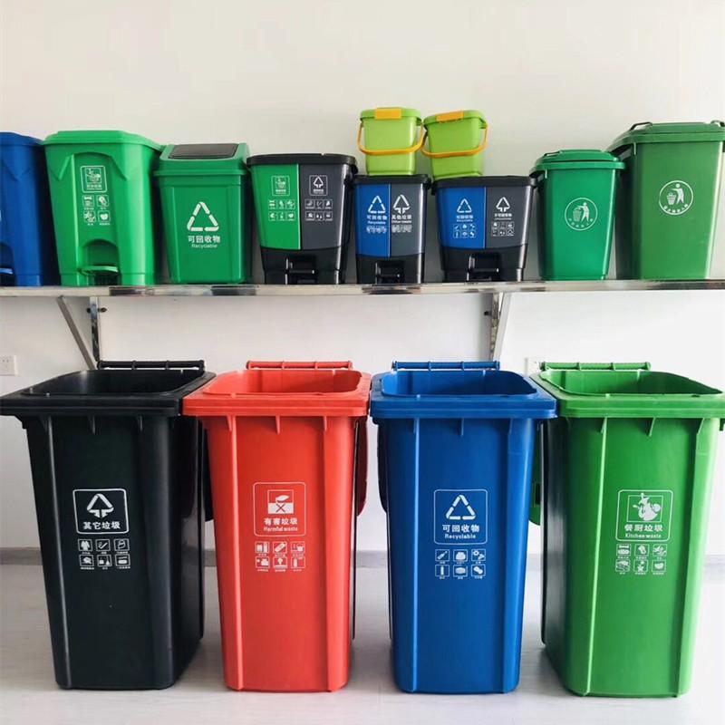武漢青山小區物業垃圾桶-街道垃圾箱現貨配送