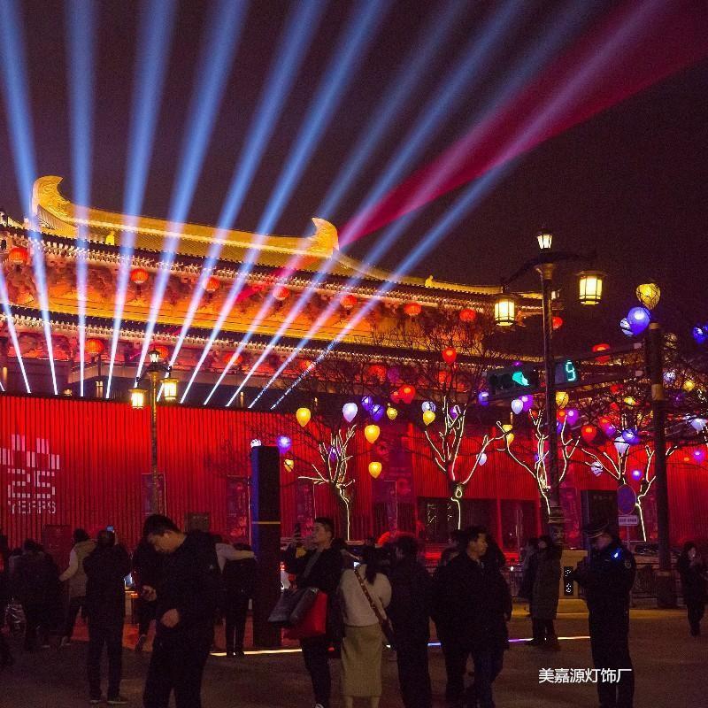 公園裝飾彩燈-公園掛樹彩燈-彩色燈串-led公園裝飾燈-led圓球掛在樹上真漂亮