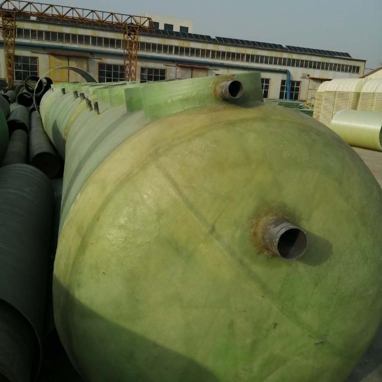 供應揭陽生產銷售加工玻璃鋼罐 5噸農村污水處理罐