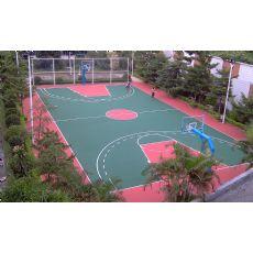 铁涌镇硅pu球场,塑胶跑道,丙烯酸球场专业施工