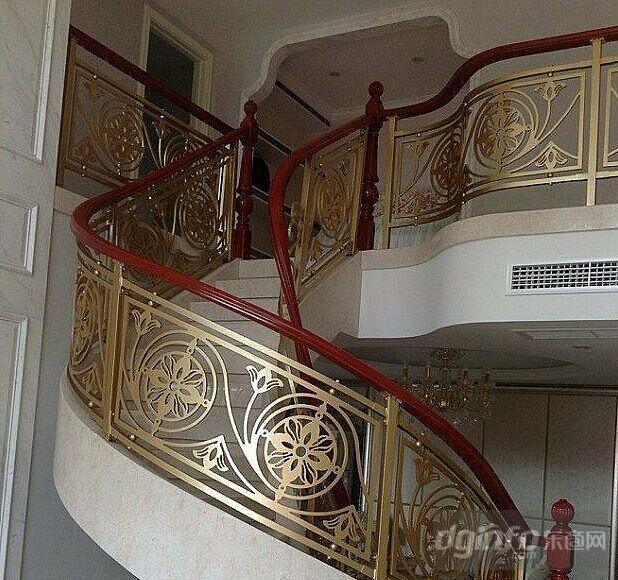 欧式酒店楼梯不锈钢扶手栏杆|东商网