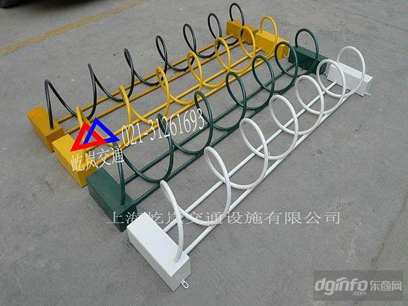 螺旋式停车架 U型自行车停车架 螺旋式自行车