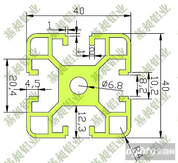 4040铝型材铝材参数-4040技术系列图纸图纸|东图纸是北上必须建筑面吗图片