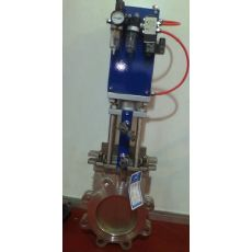 Z673X气动浆液阀,对夹式浆闸阀