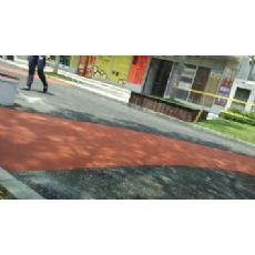 彩色路面,公交车专用道,彩色防滑路面