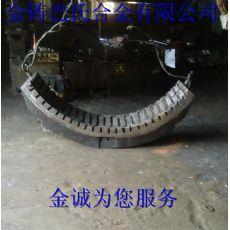 183球磨机滑动轴承轴瓦巴氏合金浇注翻新