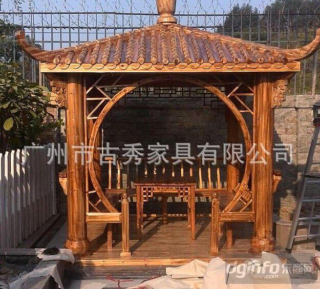 仿古碳化木凉亭|东商网