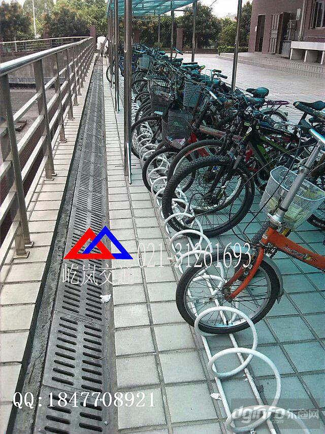 卡槽式停车架 游乐园卡槽式自行车停车架|东商