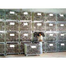供应嘉兴仓储笼-台州蝴蝶笼-温州折叠式仓储笼-移动式铁笼厂家