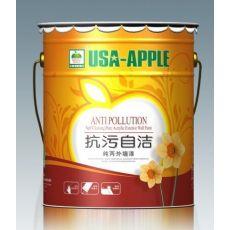 美国苹果抗污自洁硅丙外墙漆