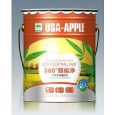 美国苹果360°醛能净竹炭海藻泥墙面漆