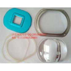 全套路灯玻璃透镜批发价格 坤锐供应玻璃透镜设计+压框+胶圈现货