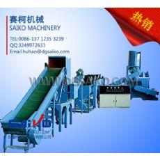 LDPE塑料薄膜回收生产机械,农膜清洗回收造粒流水线设备