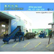 蛇皮袋破碎造粒设备,LDPE薄膜清洗回收制粒生产线